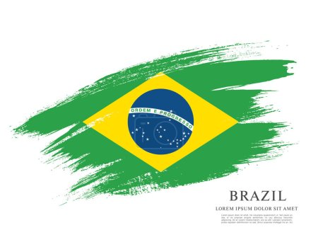 Flag of Brazil background