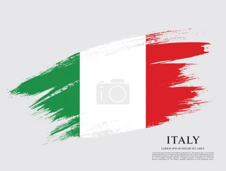 Flag of Italy  background