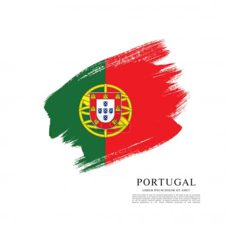Portugal flag banner template