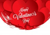 Valentine's greeting card Happy Valentine's Day vector illustration
