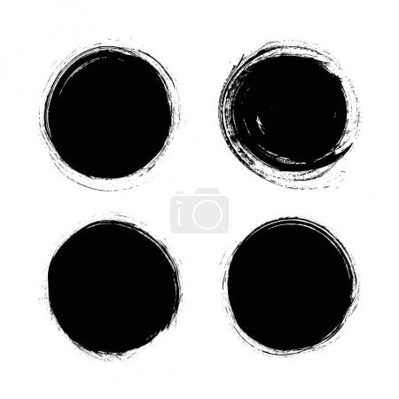Illustration for Grunge circle texture vector illustration - Royalty Free Image