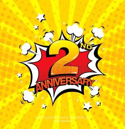 2nd anniversary emblem