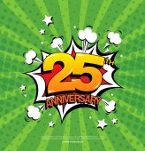 25th anniversary emblem