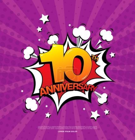 10th anniversary emblem