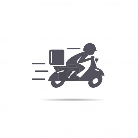 A man is riding a scooter.