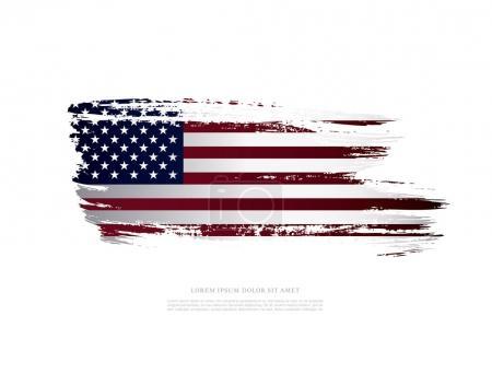 Illustration for American flag background. Vector illustration - Royalty Free Image