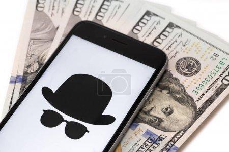 Apple iPhone 6s with money