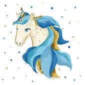 Watercolor hand drawn unicorn