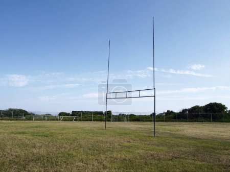 Goalposts in a playground of football