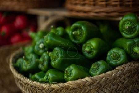 Photo for Fresh farmers market fruit and vegetable from above with copy space. Bio, healthy food. - Royalty Free Image