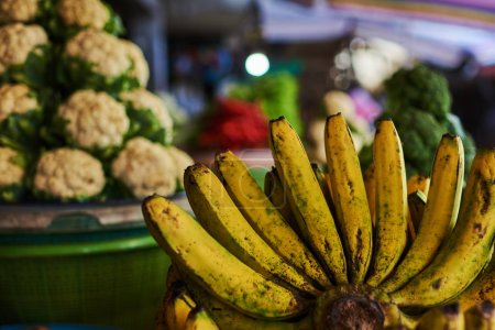 Photo for Selection of vegetables and fruits from a farmers market in Bali, Indonesia. Organic fresh agricultural product at farmer market. - Royalty Free Image