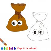 Page to be colored simple education game for kids