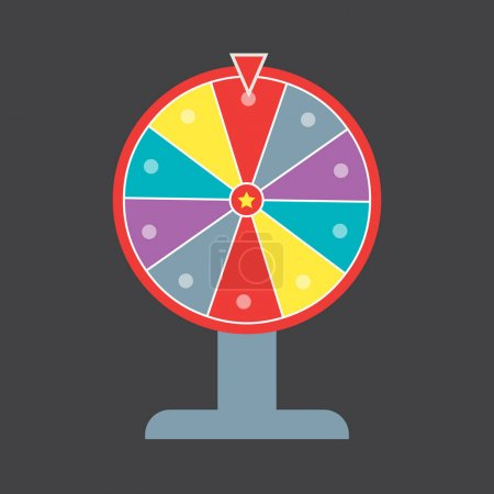 Lucky wheel vector template. Lucky wheel vector sign