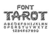 Tarot font Traditional ancient manuscripts Celtic alphabet nor