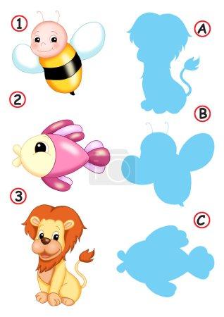 Photo pour Illustration colorée d'un jeu pour enfants - image libre de droit