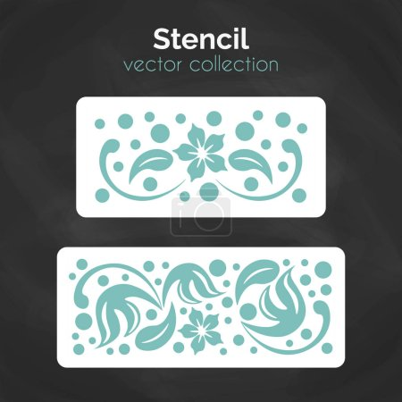 Illustration for Stencil. Laser cuting template. Pattern for decorative panel. Floral ornament for wall decoration. - Royalty Free Image