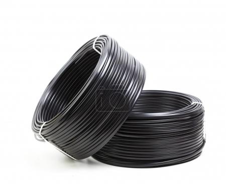 black electric cables