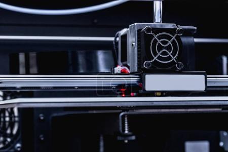 details of modern 3d printer