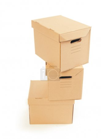 Photo for Big cardboard boxes standing insinde room - Royalty Free Image