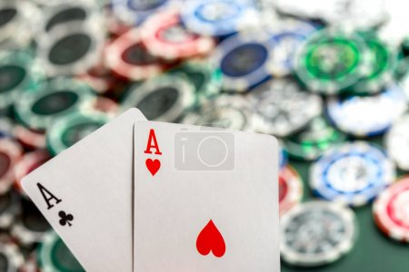 Cards and chips for poker