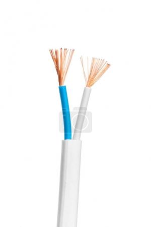 power cables electrical isolated on white background