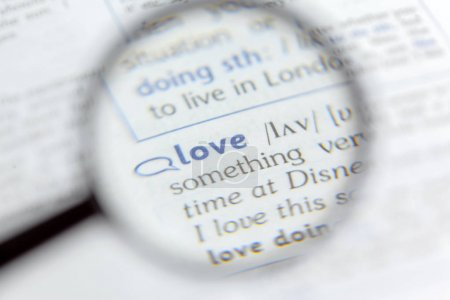 Dictionary definition of word, closeup