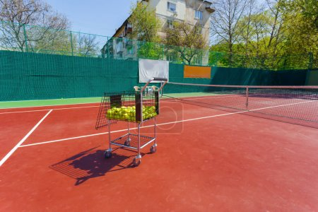 Tennis Court in sunny day