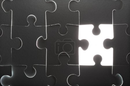 Missing puzzle pieces background