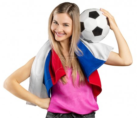 fan de football russe isolé sur fond blanc