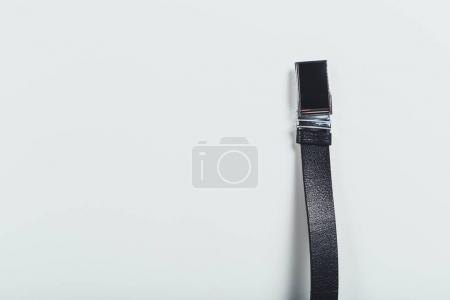 fashionable men leather belt isolated on white background