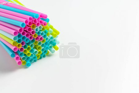 Colored tubules for juice and cocktails