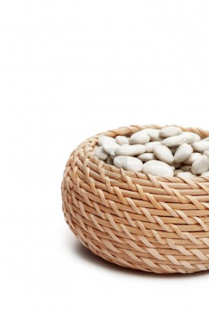 White beans close up isolated