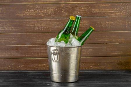 Ice bucket with beer bottles