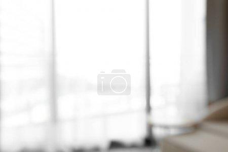 Hotel room blurred background
