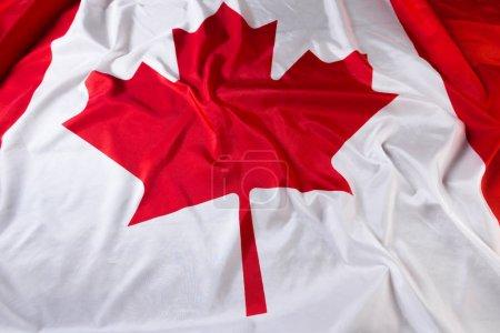 wavy Canadian flag background