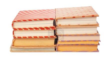 Pile of books isolated on white background. creati...