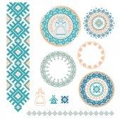 Ukrainian Slavic Belarusian traditional seamless folk embroidery pattern