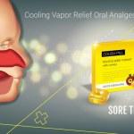 Cough Drops ads. Vector 3d Illustration with lemon...