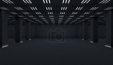 dark gray wall parking background, space backdrop