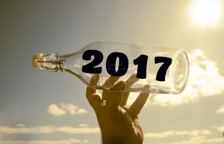 2017 message in empty bottle