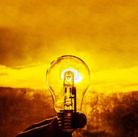 Light Bulb above Sunset