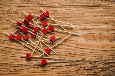 heart shapes on sticks