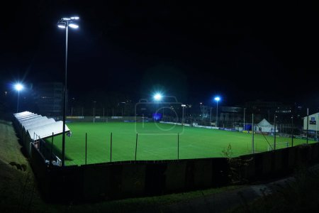 Night stadium arena,  soccer field.  night scene