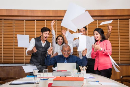 Indian business people enjoying success
