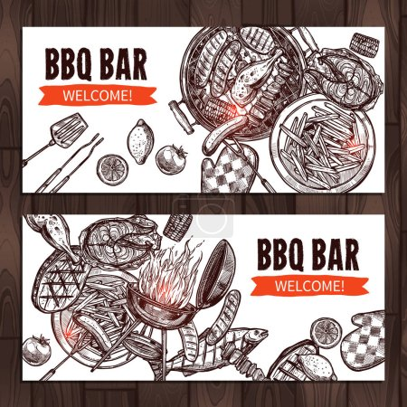 Bbq Grill Party Banners