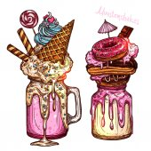 Color Monstershakes In Sketch Style