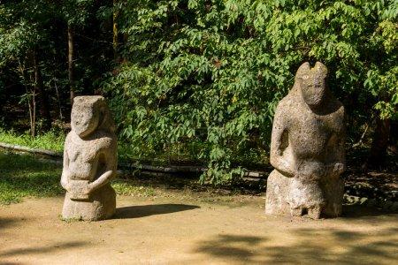 Ancient stone statue of scythian warrior