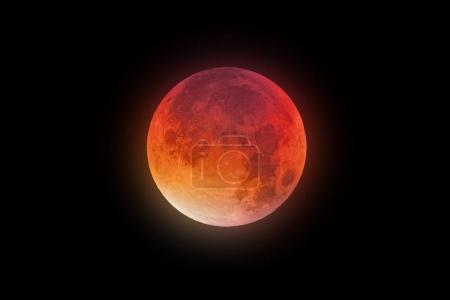 Super Bloody Moon red-orange glow...