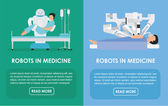 Robots in medicine. Flat Vector illustration. Medicine concept.