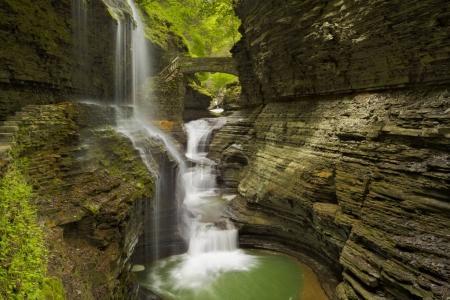 Waterfall in Watkins Glen Gorge